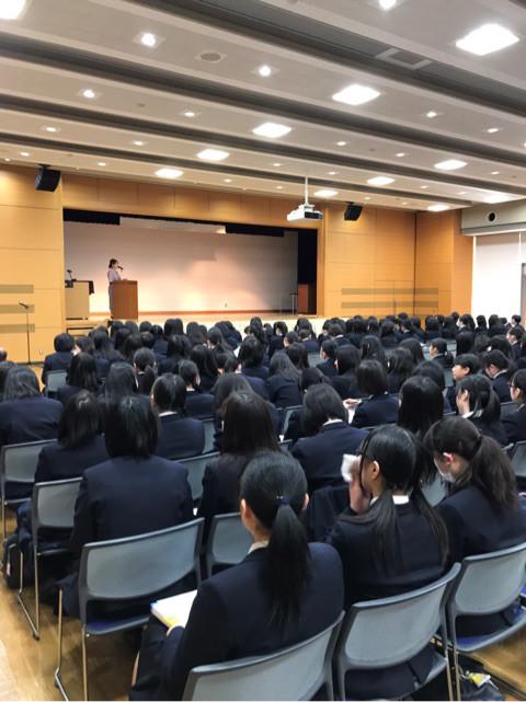 東京家政大学付属女子高等学校OG講演会登壇