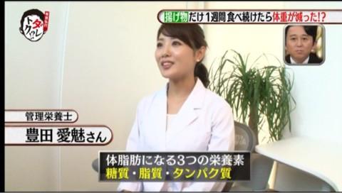8月15日放送カンテレ、フジテレビ系『有吉弘行のダレトク!?』管理栄養士/美容アドバイザーとして一部コーナー監修、VTR出演させて頂きました。