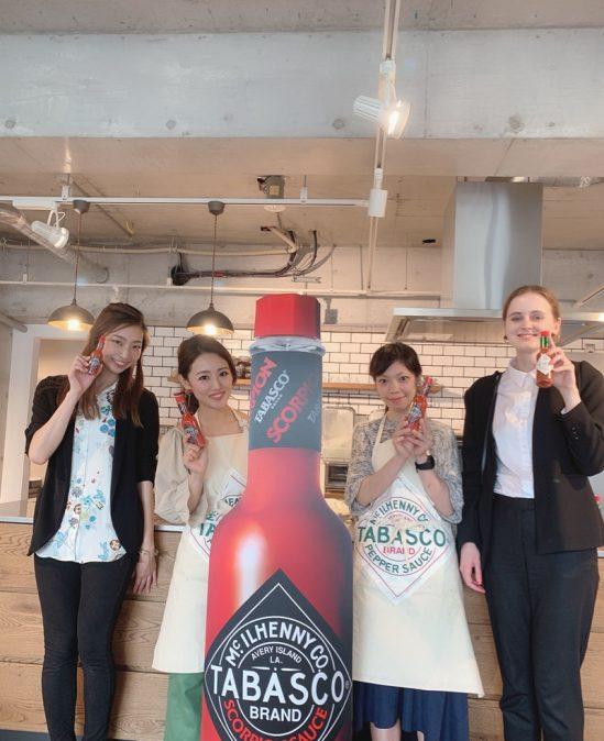 Tabascoブランドの新商品『スコーピオンソース』発表・試食会登壇。