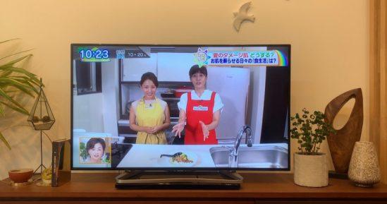 9月2日放送「なないろ日和」夏のダメージ肌対策特集に出演致しました。