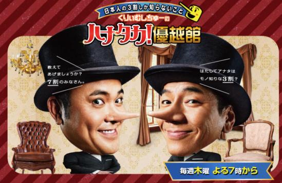 8月6日放送、テレビ朝日『ハナタカ優越館』にて一部監修致しました。